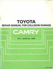 1982 TOYOTA CAMRY SV1 REPAIR MANUAL UNFALL REPARATUR ANLEITUNG COLLISION DAMAGE