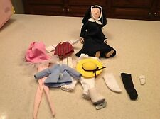 "Ms. Miss Clavel Nun Doll Madeline Eden 10"" Collectible Doll & Clothes Lot Nice"