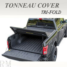 Lock Tri-Fold Soft Tonneau Cover For 2004-2017 FORD F150 5.5ft / 66in Short Bed