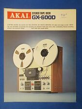 AKAI GX-600D R2R SALES BROCHURE ORIGINAL FACTORY ISSUE THE REAL THING     v2