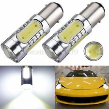 2X 1157 BAY15D P21/5W 7.5W LED Q5 Coche Signal Tail Brake Bombilla Blanco 12V