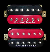 Guitar Parts GUITARHEADS PICKUPS ZBUCKER HUMBUCKER - SET 2 - BLACK & RED ZEBRA
