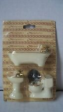 Miniature Doll House Bath Tub Sink and Toilet Bathroom Accessories MIB