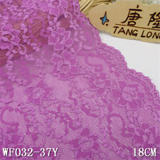 1Y*7'' Stretch Lace Trim Ribbon Sewing Dress Skirt DIY Craft  Decro.L3010