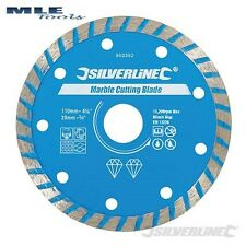 Silverline Marble Cutting Diamond Blade 110mm diameter 20mm bore 950392
