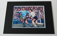 MIKE SUMMERBEE Manchester City HAND SIGNED Autograph Photo Mount + COA Proof!