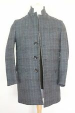 NWT CANALI MADE IN ITALY CHARCOAL GREY PLAID OVERCOAT  TOPCOAT CAR COAT FORMAL