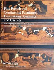 Sotheby's FINE FRENCH, CONTINENTAL FURNITURE, DECORATION, CERAMIC, CARPETS 1995