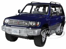 1998 MITSUBISHI PAJERO LONG 3.5 V6 ROYAL BLUE PEARL 1/18 BY SUNSTAR 1223
