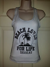"""NWT BillaBong Womens Tank Top """"Beach Lover For Life Shakas"""" Sz.S $36"""