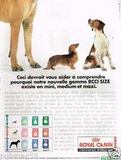 Publicité advertising 1997 Les Coquettes pour chiens Royal canin