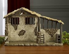 Three Kings Gifts Lighted Stable for Real Life Nativity, 15-Inch by 9 5/8-Inch b