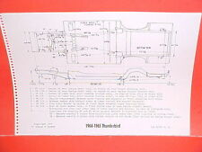 1964 1965 FORD THUNDERBIRD SPORT ROADSTER CONVERTIBLE FRAME DIMENSION CHART