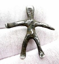 CELTIC IRON AGE SILVER HORSE RIDER FIGURINE - VERY RARE ANCIENT ARTIFACT - F55