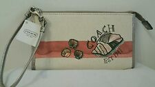 COACH BEACH STARFISH MOTIF ZIPPY WALLET CORAL F48157--NEW