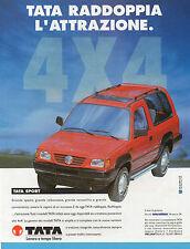 AUTO998-PUBBLICITA'/ADVERTISING-1998- TATA 4x4