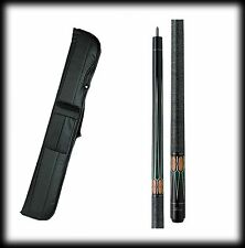 New Action ACT131 Pool Cue Stick - Black Stain w/ Green Points 18 - 21 oz & Case