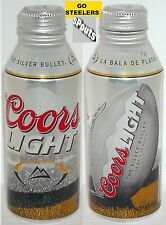 COORS PITTSBURGH STEELERS BLACK+GOLD TURF NFL FOOTBALL ALUMINUM BEER BOTTLE-CAN
