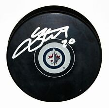 LEE STEMPNIAK SIGNED WINNIPEG JETS Puck NHL STAR AUTOGRAPHED RANGERS +COA