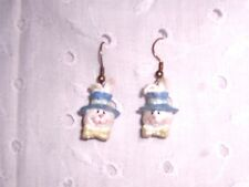 BUNNIES RABBITS DANGLING EARRINGS -SPRING - EASTER  COLLECTIBLE