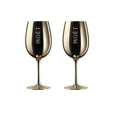 Moet & Chandon Imperial Champagne Gold Acrylic Glasses Goblets x 2