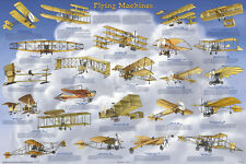 Flying Machines Laminated Educational History Airplane Class Chart Poster 24x36