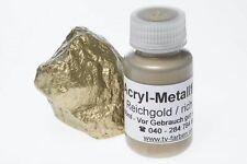 Goldfarbe Reichgold Metallfarbe 60ml Metallic Metalleffektfarbe Acryl Gold