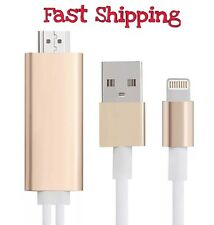 Hdmi Adapter Cable TV HDTV iPhone 5 5s SE 6 6s 6plus iPad Air 4g Conect Tv