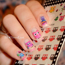 3Sheets BORN PRETTY Nail Art Water Decals Transfer Stickers Owl Design BP-W09