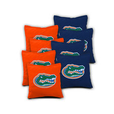 FLORIDA GATORS Cornhole Bags SET of 8 ACA REGULATION Baggo Bean Bags