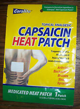 Capsaicin Heat Patches Topical Analgesic Medicated Patch Back Arthritis Hot Pain