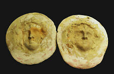 APHRODITE- A PAIR OF ANCIENT GREEK POTTERY ROUNDEL BADGES