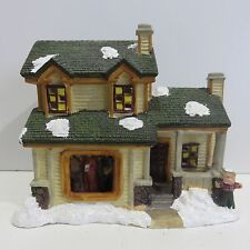 Rite Aid Holiday Village Porcelain Lighted House with Scarecrow, Used no Box