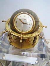 Rare Collectible Imhof  Globe Ship Wheel Zodiac Brass Clock