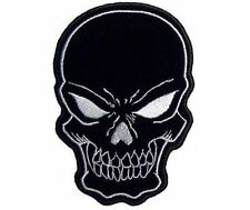 Skull Large Black 11 x 8 Quality NEW Embroidered Biker Vest Back Patch LRG-0342