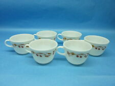 Vintage Set of 6 Harvest Home Tea/Coffee Mugs From Pyrex Retro