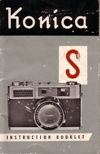 Konica S Original Instruction Book