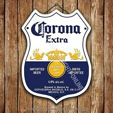 Corona Extra Lager Beer Advertising Bar Old Pub Pump Badge Shield Steel Sign