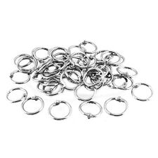 50 Pcs Staple Book Binder 20mm Outer Diameter Loose Leaf Ring Keychain UK New SP