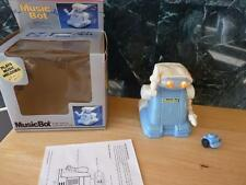 1986 Playtime Music-Bot Robot #730300 w/Box & Instruction Blue White Taiwan
