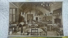 "W. Dennis Moss Postcard No: 3 ""The Great Hall of Lygon Arms, Broadway"" RP Sepia"