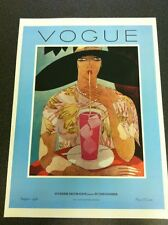 Vintage Vogue Magazine Poster August 1, 1926 Authorised 1970's Reprint 39x28cm20