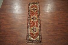 Veg' Dye 3X10 Serapi Runner Antiqued Hand-Knotted Persian Wool Rug (2.7 x 9.10)