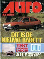 1984 AUTOVISIE MAGAZIN 11 OPEL KADETT MITSUBISHI LANCER NISSAN SUNNY VOLVO