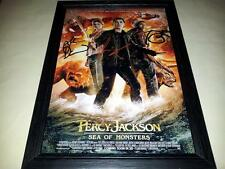 """PERCY JACKSON 2 : SEA OF MONSTERS SIGNED & FRAMED 12""""X8"""" POSTER LOGAN LERMAN"""