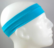 "NEW! 2"" Super Soft Light Blue Baby Hair Band Head Sports Sweat Headband Stretch"