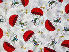 PEANUTS SNOOPY FLYING ACE RED BARON QUILTING TREASURE 100% COTTON FABRIC YARDAGE