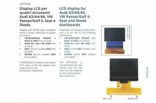 Display LCD for Audi A3/A4/A6,VW Passat/Golf 4,Seat,Skoda quadri strumenti