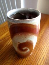 """RARE Studio Art Pottery Glazed Vase/Cup w/Indented Thumb Rest,5-1/4""""x2-1/2"""""""