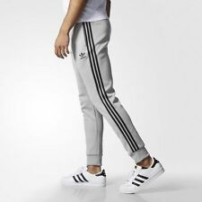 MEDIUM adidas Originals Men's Cuffed SUPERSTAR  TRACK PANTS AZ6984 GRAY / BLACK